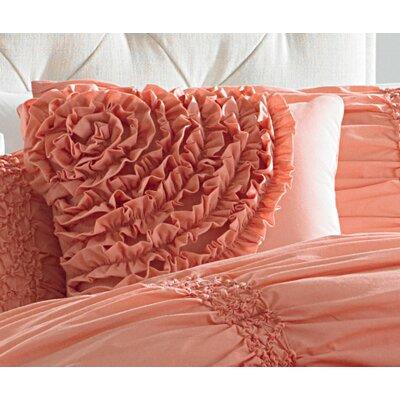 Cotton Clouds Accent Pillow Color: Coral