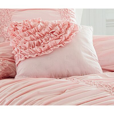 Clouds Cotton Throw Pillow Color: Pink