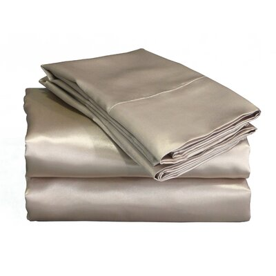 Scent-Sations Charmeuse 230 Thread Count II Satin Sheet Set - Size: Full, Color: Charcoal at Sears.com