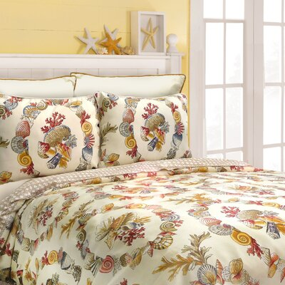 Scent-Sations Coral Wreath Comforter Set - Size: Queen