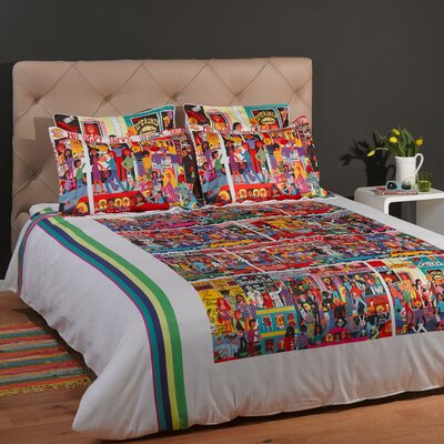 Hindley Street 3 Piece Reversible Duvet Cover Set Size: King