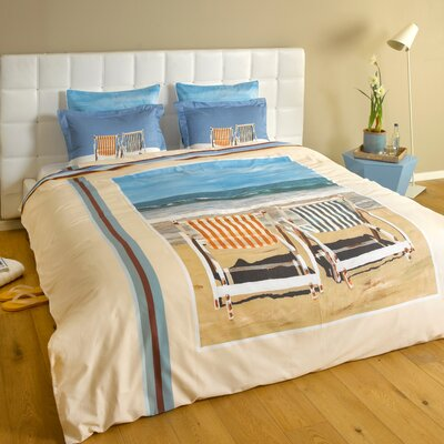 Chairs on the Beach 3 Piece Reversible Duvet Cover Set Size: King