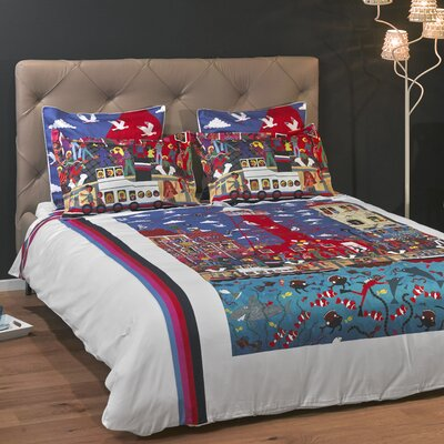 Pottering at the Port 3 Piece Reversible Duvet Cover Set Size: Full/Queen