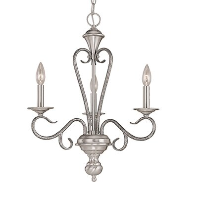 Birchview 3-Light Candle-Style Chandelier Color: Satin Nickel/Silvermist