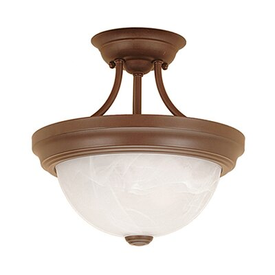 2-Light Semi-Flush Mount Finish: Bronze