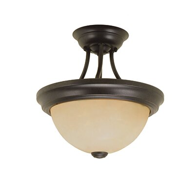 2-Light Semi-Flush Mount Size: 11.5 H x 11 W