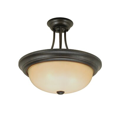 2-Light Semi-Flush Mount Size: 12 H x 13 W