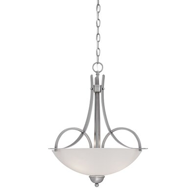 3-Light Bowl Pendant Finish: Brushed Pewter