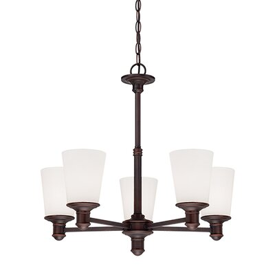 Cimmaron 5-Light Shaded Chandelier Finish: Rubbed Bronze
