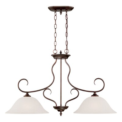 Cleveland 2-Light Kitchen Island Pendant Finish: Rubbed Bronze