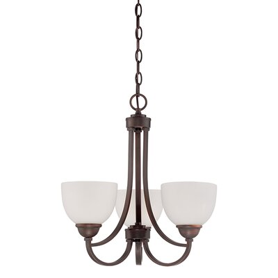 Camden 3-Light Shaded Chandelier Finish: Rubbed Bronze