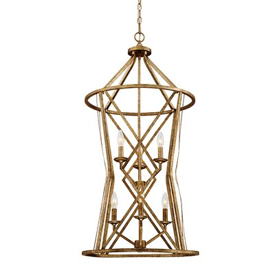 Tokai 6-Light Foyer Pendant Finish: Vintage Gold