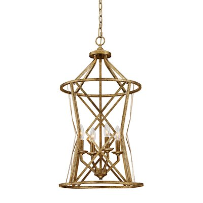 Tokai 4-Light Foyer Pendant Finish: Vintage Gold