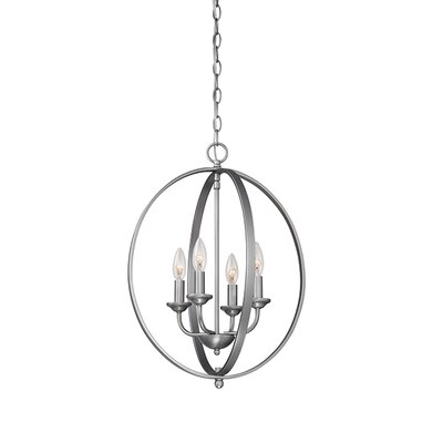 4-Light Foyer Pendant Finish: Brushed Pewter