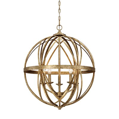 Tokai 5-Light Foyer Pendant Finish: Vintage Gold