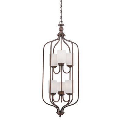 Lansing 6-Light Foyer Pendant Finish: Rubbed Bronze