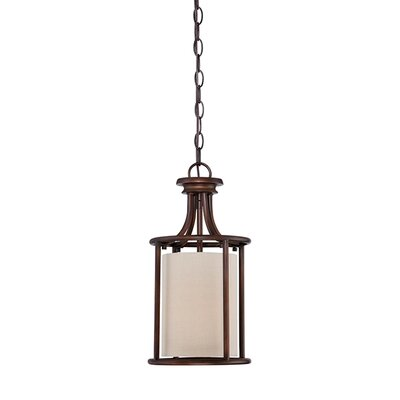 Steuben Rubbed Bronze 1-Light Foyer Pendant