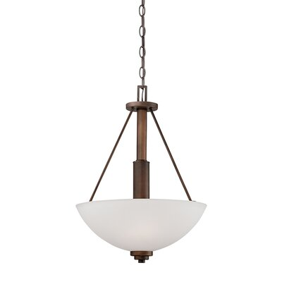 Hester 3-Light Bowl Pendant Finish: Rubbed Bronze, Size: 21.25 H x 15.75 W x 15.75 D