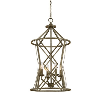 Tokai 4-Light Foyer Pendant Finish: Antique Silver