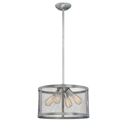 Akron 4-Light Drum Pendant Finish: Brushed Pewter