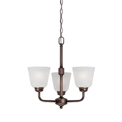 Franklin 3-Light Shaded Chandelier Finish: Rubbed Bronze