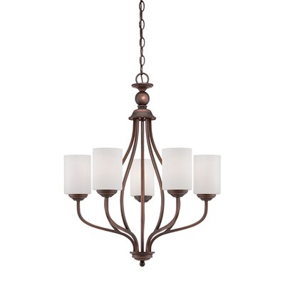 Lansing 5-Light Shaded Chandelier Finish: Rubbed Bronze