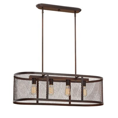 Akron 4-Light Kitchen Island Pendant Finish: Rubbed Bronze