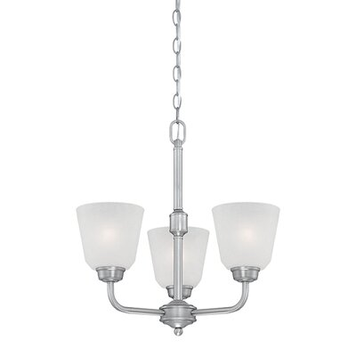 Franklin 3-Light Shaded Chandelier Finish: Brushed Pewter