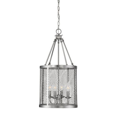 Akron 4-Light Foyer Pendant Finish: Brushed Pewter