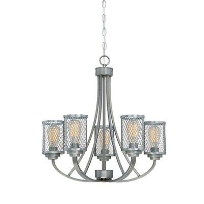 Akron 5-Light Candle-Style Chandelier Finish: Brushed Pewter