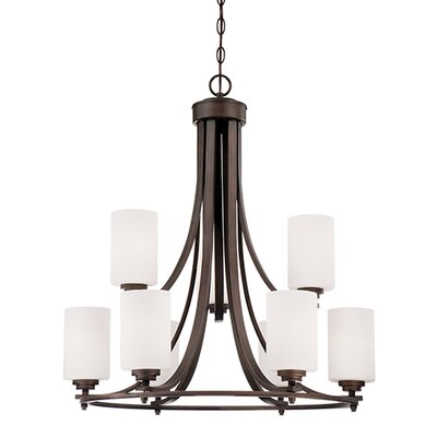 Bristo 9-Light Shaded Chandelier