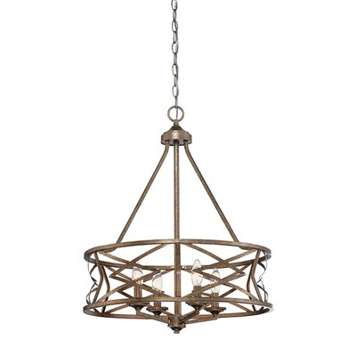 Tokai 4-Light Candle-Style Chandelier Finish: Vintage Gold