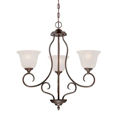 Cleveland 3-Light Shaded Chandelier Finish: Rubbed Bronze
