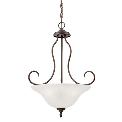 Cleveland 3-Light Bowl Pendant Finish: Rubbed Bronze