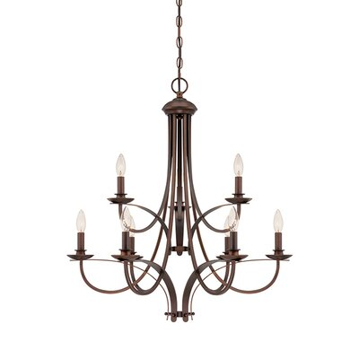 9-Light Candle-Style Chandelier Finish: Rubbed Bronze