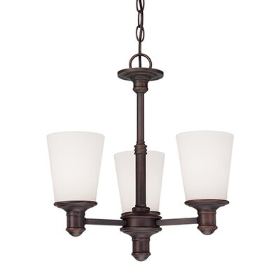 Cimmaron 3-Light Shaded Chandelier Finish: Rubbed Bronze