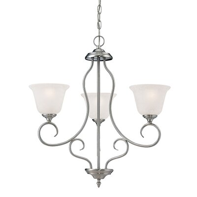 Cleveland 3-Light Shaded Chandelier Finish: Satin Nickel