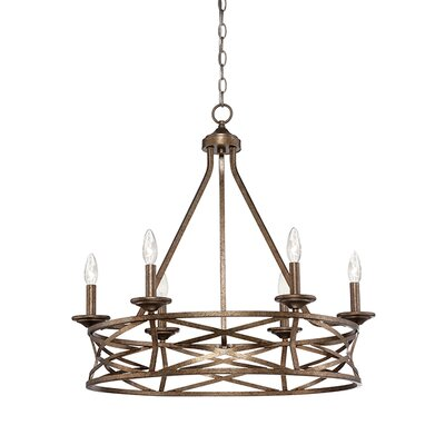 Lakewood 6-Light Candle-Style Chandelier Finish: Vintage Gold