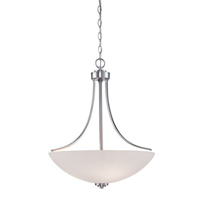 Camden 3-Light Bowl Pendant Finish: Brushed Nickel