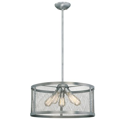 Akron 5-Light Drum Pendant Finish: Brushed Pewter