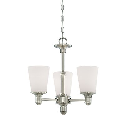 Cimmaron 3-Light Shaded Chandelier Finish: Satin Nickel