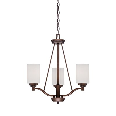 Hester 3-Light Shaded Chandelier Finish: Rubbed Bronze