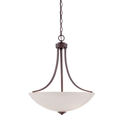 Camden 3-Light Bowl Pendant Finish: Rubbed Bronze