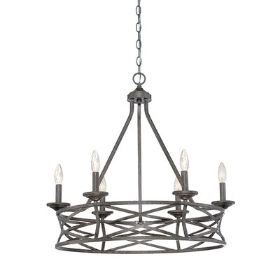 Tokai 6-Light Candle-Style Chandelier Finish: Antique Silver
