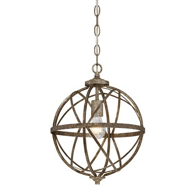 Tokai 1-Light Foyer Pendant Finish: Antique Silver