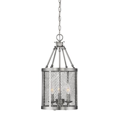 Akron 3-Light Foyer Pendant Finish: Brushed Pewter