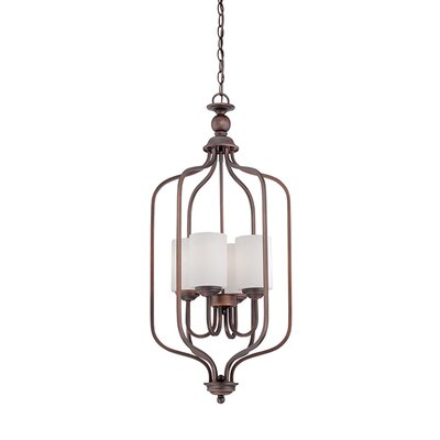 Lansing 4-Light Foyer Pendant Finish: Rubbed Bronze