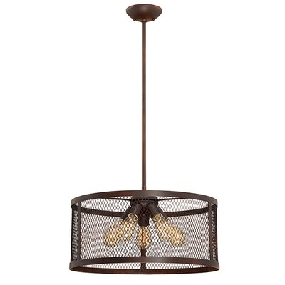 Akron 5-Light Drum Pendant Finish: Rubbed Bronze
