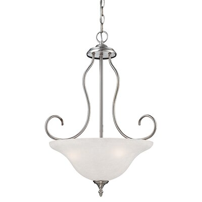 Cleveland 3-Light Bowl Pendant Finish: Satin Nickel