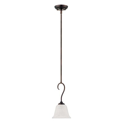Cleveland 1-Light Mini Pendant Finish: Rubbed Bronze